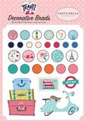 Let's Travel Decorative Brads - Carta Bella