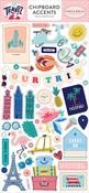 Let's Travel Chipboard Accents - Carta Bella - PRE ORDER