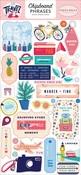 Let's Travel Chipboard Phrases - Carta Bella - PRE ORDER