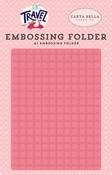 Travel Embossing Folder - Grid - Carta Bella