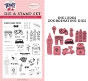 Adventure Begins Here Die & Stamp Set - Carta Bella