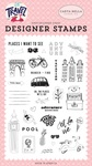 Adventure Begins Here Stamp Set - Carta Bella