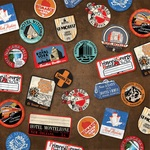 Luggage Stickers Paper - All Aboard - Carta Bella