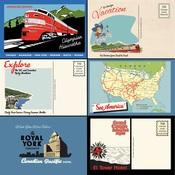 Postcards Paper - All Aboard - Carta Bella
