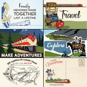 4X6 Journaling Cards Paper - All Aboard - Carta Bella