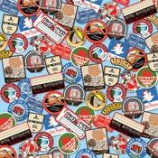 Destination Stickers Paper - All Aboard - Carta Bella
