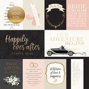 Journaling Cards Gold Foiled Paper - Wedding Day - Echo Park - PRE ORDER