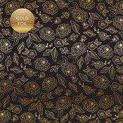 Gold Floral Gold Foiled Paper - Wedding Day - Echo Park