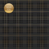 I Do Plaid Gold Foiled Paper - Wedding Day - Echo Park - PRE ORDER