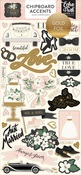 Wedding Day Chipboard Accents - Echo Park - PRE ORDER