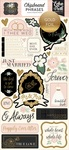 Wedding Day Chipboard Phrases - Echo Park - PRE ORDER