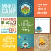 4x4 Journaling Cards Paper - Summer Adventure - Echo Park - PRE ORDER