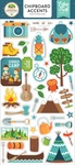Summer Adventure Chipboard Accents - Echo Park - PRE ORDER