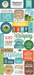 Summer Adventure Chipboard Phrases - Echo Park