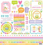 Hoppy Easter This & That Sticker Sheet - Doodlebug