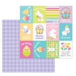 Sunday Dress Paper - Hoppy Easter - Doodlebug