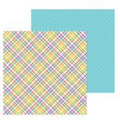 Jellybean Plaid Paper - Hoppy Easter - Doodlebug
