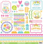 Simply Spring This & That Sticker Sheet - Doodlebug