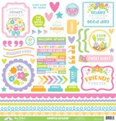 Simply Spring This & That Sticker Sheet - Doodlebug - PRE ORDER