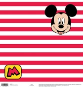 Mickey Red Stripe Paper - Disney Paper - EK Success