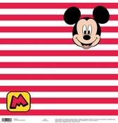 Mickey Red Stripe Paper - Disney Paper - EK Success - PRE ORDER