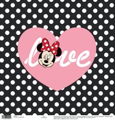 Love Black - White Dots Paper - Disney Paper - EK Success