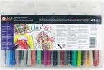 Koi Coloring Brush Gift Set W/Storage Case - 48 Colors