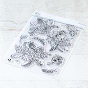 "Fancy Blooms - Pinkfresh Studio Clear Stamp Set 6""X8"""