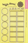 """Color Swatches For Watercolors - Waffle Flower Crafts Clear Stamps 4""""X6"""""""