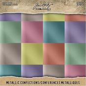 "Confections - Idea-Ology Paper Stash Kraft Metallic Paper Pad 8""X8"" 36/Pkg"