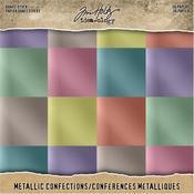 "Confections - Idea-Ology Paper Stash Kraft Metallic Paper Pad 8""X8"" 36/Pkg"