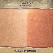 "Metallic 2 - Idea-Ology Paper Stash Kraft Metallic Paper Pad 8""X8"""