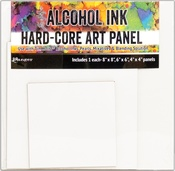 Square - Tim Holtz Alcohol Ink Hard Core Art Panels 3/Pkg