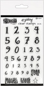 "Numerology - Dyan Reaveley's Dylusions Clear Stamps 4""X8"""