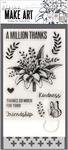 A Million Thanks - Wendy Vecchi Make Art Stamp, Die & Stencil Set