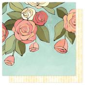 Afternoon Roses Paper - Saturday Afternoon - OneCanoeTwo - PRE ORDER