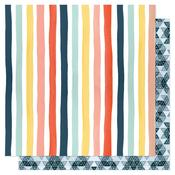 Sunshine Stripes Paper - Saturday Afternoon - OneCanoeTwo - PRE ORDER