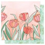 Double Tulips Paper - Saturday Afternoon - OneCanoeTwo - PRE ORDER