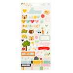Cats Playful Pets Sticker Sheet - DCWV