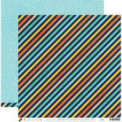 Diagonal Stripe Paper - Playful Pets - DCWV