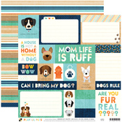 Dog Tags Paper - Playful Pets - DCWV