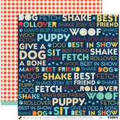 Dog Words Paper - Playful Pets - DCWV