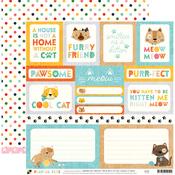 Cat Tags Paper - Playful Pets - DCWV