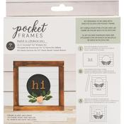 Hi Wreath With Insert American Crafts Pocket Frames Insert Kit