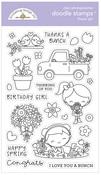 Flower Girl Stamps - Doodlebug