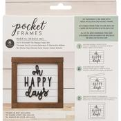 Oh Happy Days With Insert American Crafts Pocket Frames Insert Kit