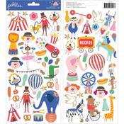 Big Top Dreams Gold Foil Icon Stickers - Pebbles