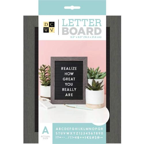 "2 Pack DCWV Letterboard Letters /& Characters 1/"" 188//Pkg-Coral"
