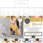 Mixed Metal Metallic American Crafts Color Pour Pre-Mixed Paint Kit