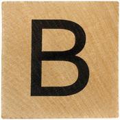 B Wood Alphabet Tile - 2 Inch